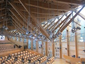 debating chamber in the Scottish parliament